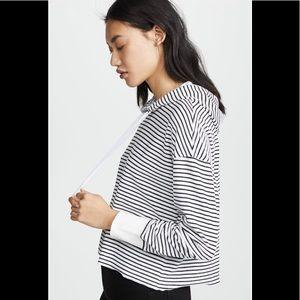AYR The Foam Hoodie Black & White Stripe XL
